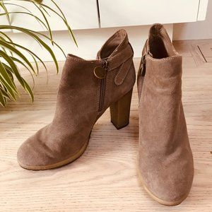 Geox Taupe Sueded Bootie